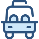 vehicle, taxi, Automobile, Car, transportation, transport DarkSlateBlue icon
