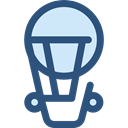 transportation, travel, transport, flight, Air balloon, hot air balloon DarkSlateBlue icon