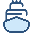 Shipping, navigation, transportation, Boat, transport, ship, Cargo Ship, Shipping And Delivery DarkSlateBlue icon
