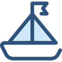 sail, Sailboat, sailing boat, Boats, sailing, transportation, Boat, transport DarkSlateBlue icon