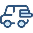 Car, transportation, transport, vehicle, van, Automobile DarkSlateBlue icon