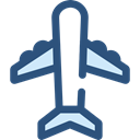 Airport, transportation, airplane, Plane, transport, flight, Aeroplane Black icon
