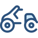transportation, transport, Motorbike, Motorcycle, Scooter DarkSlateBlue icon