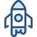 Rocket, transportation, transport, Space Ship, Rocket Ship, Space Ship Launch, Rocket Launch DarkSlateBlue icon