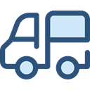 transportation, truck, transport, vehicle, Delivery, Automobile, Delivery Truck, Cargo Truck DarkSlateBlue icon