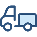 truck, transport, vehicle, Automobile, Delivery, transportation, Delivery Truck, Cargo Truck, Shipping And Delivery DarkSlateBlue icon