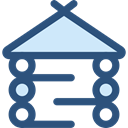 wooden, wood, storage, buildings, Holidays, hut, outdoor, Planks, Architecture And City DarkSlateBlue icon