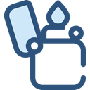 miscellaneous, lighter, fuel, petrol, gasoline, Tools And Utensils, Flaming DarkSlateBlue icon