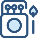 Energy, miscellaneous, fire, Flame, match, matches, Tools And Utensils DarkSlateBlue icon