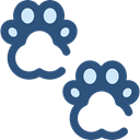 Animals, Pawprints, Cat, dog, pet DarkSlateBlue icon