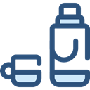 drink, food, flask, liquid, thermos, Tools And Utensils, Food And Restaurant DarkSlateBlue icon
