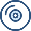 Multimedia, music, Dvd, Cd, music player, Bluray, compact disc, Music And Multimedia DarkSlateBlue icon