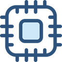 Chip, processor, Cpu, technology, electronic, electronics DarkSlateBlue icon