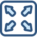 Arrows, Fullscreen, maximize, Multimedia Option, Edit Tools DarkSlateBlue icon