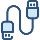Usb, Cable, Connection, technology, port, electronics, Usb Cable DarkSlateBlue icon