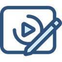Clipboard, Multimedia, technology, editing, video player, Edit Video, Edit Tools, Video Edition, Video Editing DarkSlateBlue icon
