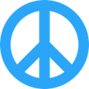 Shapes And Symbols, hippie, Peace, loving, Pacifism, love DodgerBlue icon