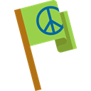 flag, love, miscellaneous, hippie, Peace, loving, Pacifism Black icon