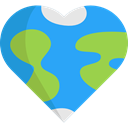 love, miscellaneous, hippie, Peace, loving, Earth Globe, Heart Shaped, Pacifism DodgerBlue icon