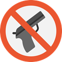 forbidden, prohibition, weapons, Not Allowed, Signaling Tomato icon