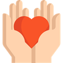 Heart, miscellaneous, Hands, donation, Solidarity, Charity, Hands And Gestures NavajoWhite icon
