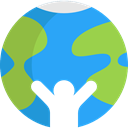 global, Geography, worldwide, Maps And Flags, Planet Earth, Ecology And Environment DodgerBlue icon