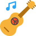 music, guitar, flamenco, Folk, musical instrument, Spanish Guitar, Orchestra, Acoustic Guitar, String Instrument, Music And Multimedia Goldenrod icon