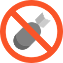 prohibition, Not Allowed, Signaling, Bombs, Forbbiden Tomato icon