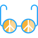 sunglasses, miscellaneous, hippie, Peace Black icon