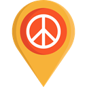 interface, pin, placeholder, signs, map pointer, Map Location, Map Point, Maps And Location Goldenrod icon