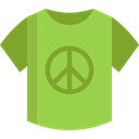 interface, hippie, pin, Shirt, placeholder, Peace, fashion, signs, map pointer, Map Location, Map Point YellowGreen icon