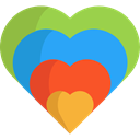 Love And Romance, Heart, interface, Like, shapes, Peace, lover, loving YellowGreen icon
