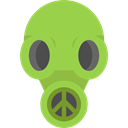 Gas Mask, Chemical Weapon, miscellaneous, Tools And Utensils, Biological Hazard, Respirator YellowGreen icon