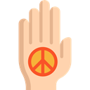 Gestures, Pacifism, Hands And Gestures, palm, hippie, Peace NavajoWhite icon