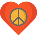 lover, loving, Shapes And Symbols, Heart, interface, Like, shapes, Peace Tomato icon