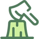 Ax, chopping, Woodcutter, Construction And Tools DimGray icon