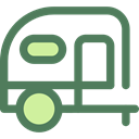 transportation, travel, transport, vehicle, Camping, Holidays, summer, Trailer, Caravan DimGray icon