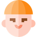 user, profile, Avatar, Social, Man PeachPuff icon