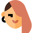 woman, profile, Avatar, Social, user IndianRed icon