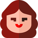 user, woman, profile, Avatar, Social Maroon icon
