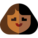Avatar, Social, user, woman, profile Black icon