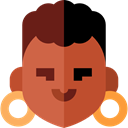 user, woman, profile, Avatar, Social Sienna icon