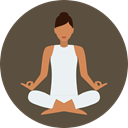 Yoga, exercise, meditation, pilates, Relaxing, Poses, Lotus Position, Sports And Competition DarkOliveGreen icon