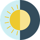 miscellaneous, Moon, sun, Day And Night DarkSlateGray icon