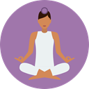 Yoga, exercise, meditation, pilates, Relaxing, Poses, Lotus Position, Sports And Competition RosyBrown icon