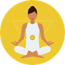 Yoga, exercise, meditation, pilates, Relaxing, Poses, Lotus Position, Sports And Competition Goldenrod icon