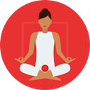 Poses, Lotus Position, Sports And Competition, exercise, meditation, pilates, Relaxing, Yoga Crimson icon
