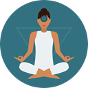 Yoga, exercise, meditation, pilates, Relaxing, Poses, Lotus Position, Sports And Competition SeaGreen icon