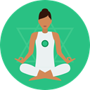 Relaxing, Poses, Lotus Position, Sports And Competition, Yoga, exercise, meditation, pilates MediumSeaGreen icon
