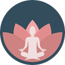 Poses, Lotus Position, Sports And Competition, exercise, meditation, pilates, Relaxing, miscellaneous, Yoga DarkSlateGray icon